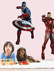 Wall Stickers Wall Decals Style Iron Man Waterproof PVC Wall Stickers