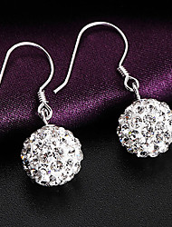 Japan and South Korea   S925  Silver   Circular fashion  Drop Earrings