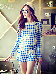 Pink Doll®Women's Casual OL Puff Sleeve Embroidery Suits