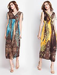Robes ( Coton ) Vintage/Sexy/Informel/Imprimé Femme