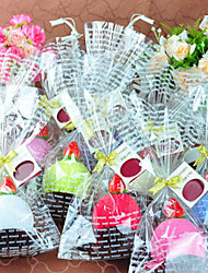Cake Shaped Hand Towel Little Pudding 1pc Pack Wedding Favors (Random Color)