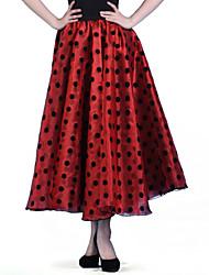 Gonne - Per donna - Danza moderna/Esibizione/Sala da ballo/Flamenco/Balli da sala - A pois - di Organza - Nero/Rosso/Bianco