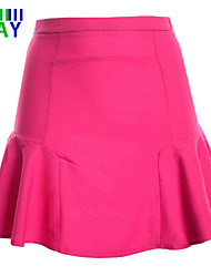 ZAY Women's Casual/Work Fishtail Chiffon Mini Skirts More Colors