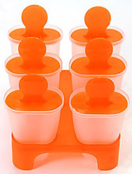 DIY Designed Ice Pop Molds Pops Maker Set of 6