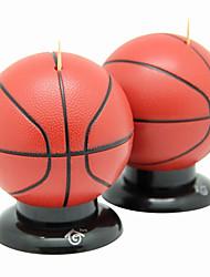 баскетбол форме зубочистка держатель моды с базой светлого цвета (случайный цвет)