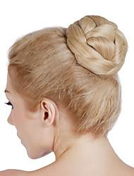 falsa moño moño de pelo rodillo de pelo sintético peluca de pelo bollo moño moño postizo bollo bollo rápido el pelo