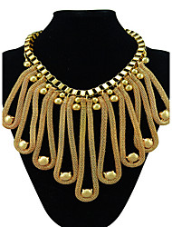 MPL Europe and the United States exaggerated gold big big Necklace