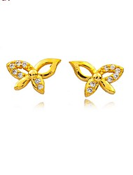 24K gold plating   Bow Earrings