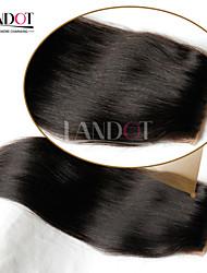 "8-20"" Mongolian Silk Base Closure Straight Size 4x4 Natural Black Free Middle 3 Part Virgin Human Hair Silk Lace Closure"