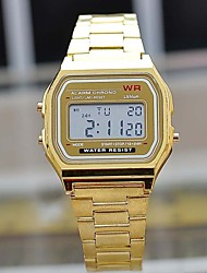 Men's Led Watch Stainless Steel Watch (Gold/Silver) Wrist Watch Cool Watch Unique Watch Fashion Watch