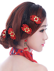Bride's Flower Shape Traditional Wedding Hair Clip 1 PC