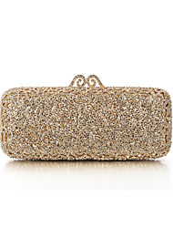 Women's Gold Plating Rhinestone Luxurious Evening Bag/Clutches with Gun Metal Plated