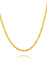 24K gold plating   Ripple Necklace