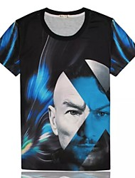 Women's High Quality Creative Personality Fierce Summer Breathable 3D Style T-shirt——Blue Foreigners