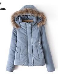 LIVAGIRL®Women's Coat Fashion Fur Collar Long Sleeve Thicken Cotton-padded Jacket Korean Style Casual Keep Warm Outwear