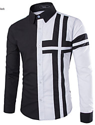 Men's Fashion Special Hit Collar Design Slim Long Sleeved Shirt