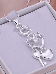 Charming Silver Fringe Heart Shape Women's Pendents