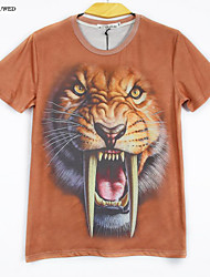 Hot New Summer Fashion Men's Short Sleeve 3D Tiger Print T-shirt Sweater Shirt(M-XXL)