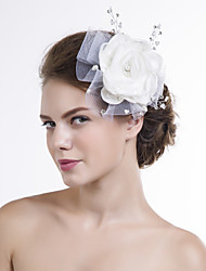 Manual Women Organza/Net Flowers With Multi-stone Wedding/Party Headpiece