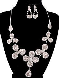 jóias de cobre prata moda longa queda totalmente strass ajuste 6