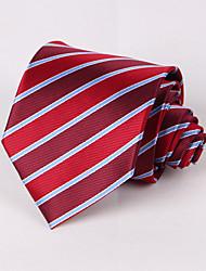 Krawatten (Rot , Polyester) Gestreift