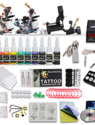 Professional Tattoo Kit 3 Top Machines 10 Color Inks