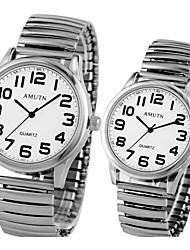 Couple's Casual Digital Clear Dial Quartz Wrist Watch Elderly Man's Watch Cool Watches Unique Watches Fashion Watch