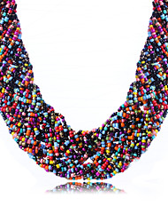 Necklace Choker Necklaces Jewelry Daily / Casual Fashion / Bohemia Style Acrylic / Rhinestone Black / White / Green / Pink 1pc Gift