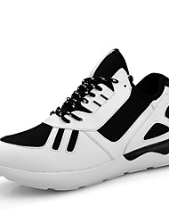 Walking Men's Shoes Fabric Black/White