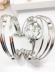Fashion Ring Shaped Alloy Metal Bracelet Warch (White,Purple,Blue,Pink)(1Pc) Cool Watches Unique Watches