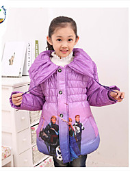 Girl's Cotton Blend Down & Cotton Padded , Winter Long Sleeve