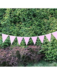 New Arrival Wedding Pink Paper Banner Bunting