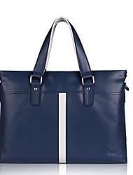 moda x.bnj cuero genuino de la vendimia de la alta calidad para los hombres únicos maletines de diseño bolso negocio negro y azul
