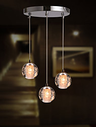 3 Light Crystal Modern Pendant Light