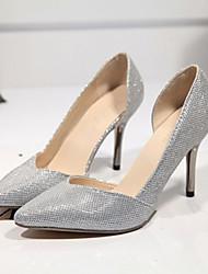 Mujer Zapatos de boda Tacones Tacones Boda/Fiesta y Noche Negro/Plata
