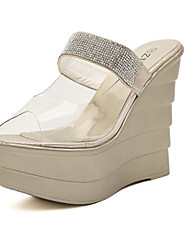 Women's Shoes  Wedge Heel Wedges Sandals Casual White/Gold