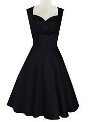 Classic & Traditional Lolita Sleeveless Medium Length Black Terylene Lolita Dress