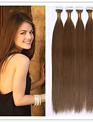 extension de cheveux raides pu trame de peau / bande fusion hair capsule de kératine vierge 2.5g / brin 100g / pc 1pc / lot en stock