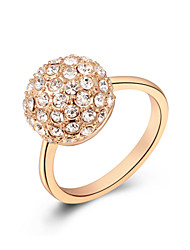 Z&X® Europe Style Zircon Ball Statement Rings Wedding/Party/Daily