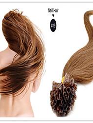 """brasileiro extensão do cabelo humano queratina pré-ligado cabelo virgem prego u cabelo ponta 18 """"-28"""" 1g / s 100g / pc 1pc / lot em"""