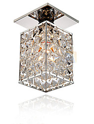 Modern/Contemporary Crystal Electroplated Metal Flush Mount Living Room / Bedroom / Dining Room / Kitchen / Hallway