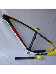 MB-NT202G6 Neasty Logo High Qulity Yellow Color 29er Full Carbon Fiber Mtb Frameset Frame and Seatpost