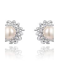 z & X® simples strass / perle boucles d'oreille mariage / fête / jour