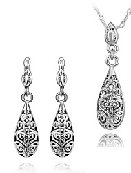 Fashion Drop Shape Rose Gold Plated Foreign Trade Jewelry Sets (Gold,Rose Gold ,White Gold)(1Set)