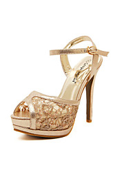 Women's Shoes Stiletto Heel Heels Sandals Outdoor/Casual Silver/Gold