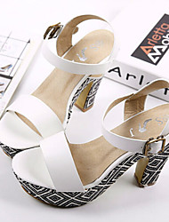 Women's Shoes  Chunky Heel Heels Sandals Casual Black/White