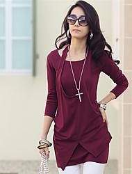 Women's Dresses , Cotton Casual/Work Long Sleeve K.M.S
