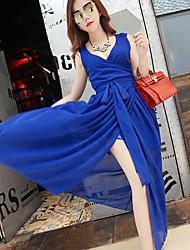 Women's Vintage/Sexy/Beach/Casual/Cute/Party/Maxi/Plus Sizes  Sleeveless Midi Dress