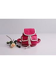 Women 's PU Backpack - White/Red/Black