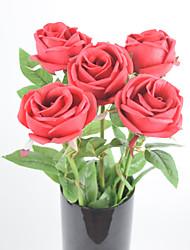Única de látex 24 '' de la PU aumentó 8 PC / porción naturaleza táctil partido flores decorativas artificiales decoraciones de la boda de